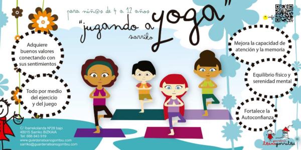 Haurrentzako yoga Sarrikoko Txanogorritxun
